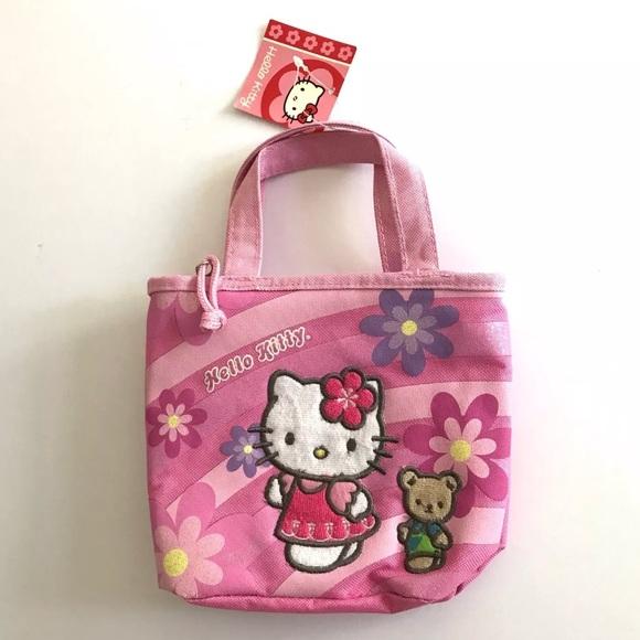 8e305e186 Sanrio Accessories | Hello Kitty Pink Canvas Tote | Poshmark
